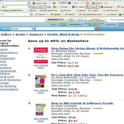 Stop Being the String Along AMZN # 1 Relationship Bestseller