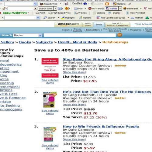 Number 1 Relationship Bestseller